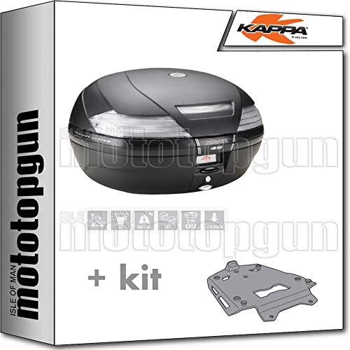 kappa maleta k49nt 47 lt + portaequipaje aluminio monokey compatible con bmw r 1250 gs 2020 20