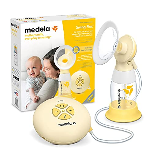 Medela Swing Flex Single Electric Breast Pump - Compact Design, featuring PersonalFit Flex Shields and Medela 2-Phase Expression Technology