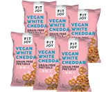 FitJoy Gluten Free Pretzels, White Cheddar Twists, Grain Free, 4.5 Ounce Bags, 6 Pack