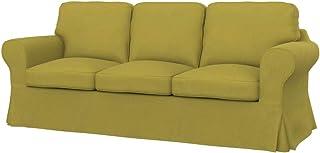 comprar comparacion Soferia - Funda de repuesto para sofá cama IKEA EKTORP PIXBO de 3 plazas, tela Softi Amarillo Oscuro