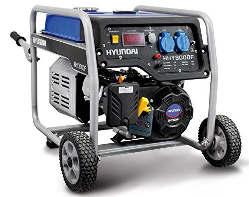 Hyundai HY4000 grupo electrógeno a gasolina generador de corriente 3,0 kW 230 V carro