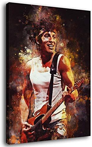 HeYi-Bruce Springsteen 7 Aquarell Kunst Dekorative Malerei Poster Kunst Leinwand Druck Home Decor Gemälde Wandkunst Bilder Poster Geschenke Schlafzimmer