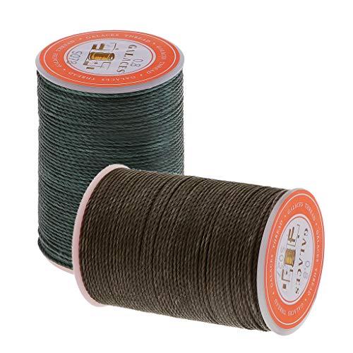 Harilla 2 Rollos de 0.8 Mm de Poliéster Encerado Costura Costura Costura DIY Artesanía