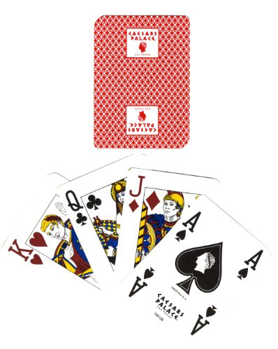 Casino Playing Cards - 2 Rare Caesars Palace (Square Logo) with Roman Empire FACE Cards + A Joker Card