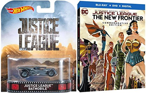 Justice League: The New Frontier Commemorative Steelbook Exclusive Blu Ray DVD + Batman Batmobile Hot Wheels Car Justice