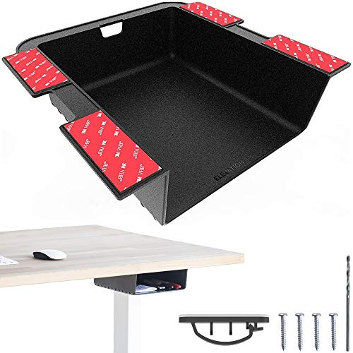 Elevation Shelf - Under Desk Storage Shelf / Desk Organizer, Great for Workstations, Adjustable Stand Up Desks, Gaming Battle Stations