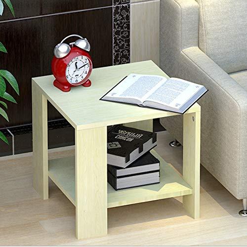 Tables HAIZHEN Pliable Armoire de, Petite Basse, Petite carrée, à thé, étagère (5 Couleurs) Stations de Travail informatiques (Couleur : E)
