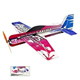 Viloga Upgrade Foam 3D RC Plane KIT PP Sakura Aerobatic Flying Airplane, 420mm Wingspan Durable RC Plane Kit to Build, DIY Electric 4CH Radio Remote Control RC Aeroplane for Adult Indoor Parkflyer
