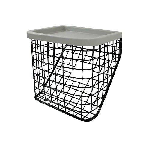 1x Behrend Korb für Delta-Gehrad-Korb Rollator-Korb Einkaufskorb Drahtkorb schwarz 26 x 23 cm