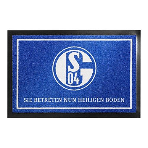 FC SCHALKE 04 S04 FUßMATTE HEILIGER BODEN