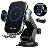 WAITIEE Wireless Car Charger,Qi 15W Fast Charging Automobile Chargers,Air Vent Dashboard Car Mount for iPhone 12 Series/11/Pro Max,Samsung S10/S9/S8/S20 Series(with Quick Charge 3.0 Car Adapter)