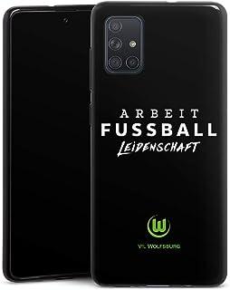 DeinDesign Silikon Hülle kompatibel mit Samsung Galaxy A71 Case schwarz Handyhülle VFL Wolfsburg Offizielles Lizenzprodukt Statement