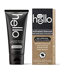 Contains 1 - 4oz tube of activated charcoal fluoride free whitening toothpaste. The activated charcoal works to polish and clean, whiten, remove surface stains and freshen breath. Hello is also vegan and never tested on animals (Leaping Bunny Certifi...