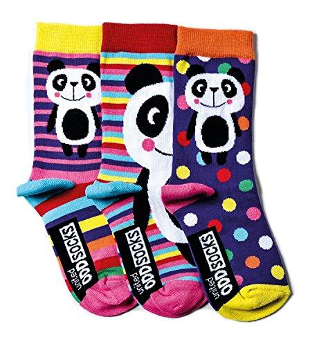 socks Verrückte Oddsocks Panda für Mädchen im 3er Set