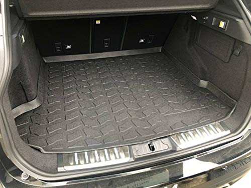 Rear Trunk Liner Tray Mat Pad for Jaguar F-Pace F Pace 2017 2018 2019 2020 Floor Cargo Cover Tray Protection Dirt Mud Snow All Weather Season Waterproof WaterResistant 3d Laser Measured Custom Fit