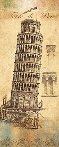 Architecture II by Daphne B Italy Leaning Tower Pisa Poster (Choose Size of Print)