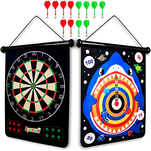 Boys Toys, Aywewii Magnetic Dart Board for Kids with 12pcs Magnetic Darts, Safe Dart Game Toys for Age 5 6 7 8 9 10 11 12 Year Old Boys Girls, Perfect Christmas Birthday Gift, Indoor Game Party Games
