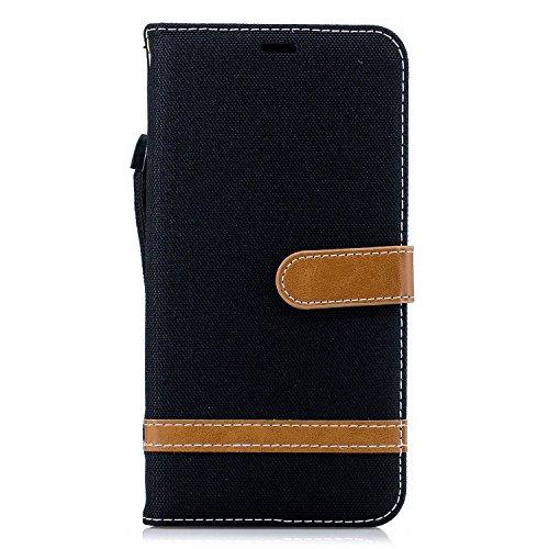 Thoankj Huawei P40 Pro Hülle stoßfest New Premium Denim + PU Leder Notebook Wallet Phone Case mit Kickstand Card Holder Slot Slim Flip Folio Schutzhülle für Huawei P40 Pro