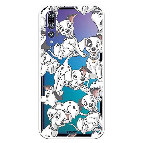 Funda para Huawei P20 Pro - P20 Plus Oficial de 101 Dálmatas Cachorros Siluetas para Proteger tu móvil. Carcasa para Huawei de Silicona Flexible con Licencia Oficial de Disney.