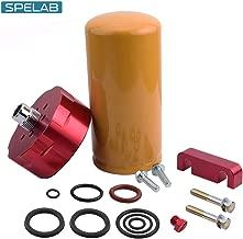 SPELAB Diesel Fuel Filter & Adapter Kit for 2001-2016 Chevy GMC Duramax LB7/LLY/LBZ/LMM/LML in Red