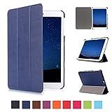Skytar Cover per Galaxxy Tab S2 9.7,Protezione in PU Pelle Smart Case Copertura Custodia per Samsung Galaxy Tab S2 9.7 Pollici T810 / T813 / T815 / T819 Tablet Cover con Funzione di Sostegno,Blu navy