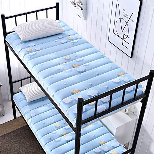 Futon Mattress Colchón Plegable del Dormitorio del Estudiante, colchón de Tatami Plegable Individual Cama de literas con Engrosamiento Transpirable,C,120 * 200cm/47 * 79inch
