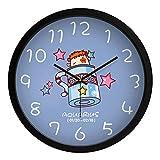 Reloj de pared sin garrapatas funciona con pilas dormitorio de las niñas 12 constelaciones Acuario Dibujos animados pintura creativa 14 pulgadas relojes de cuarzo