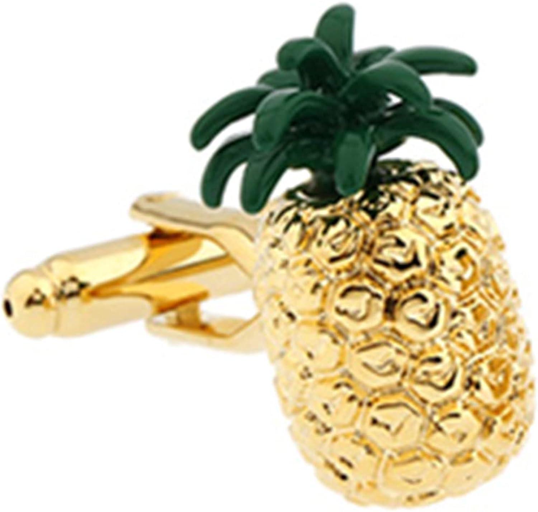 Gold Pineapple Cufflinks Fruit Trader Cook Chef Cruise Birthday Present Cuff Links