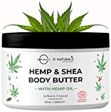 O Naturals Organic Moisturizing Body Lotion Hemp Cream with Shea Body Butter. Rose Hip Oil Cellulite Cream Vitamin E Jojoba Oil Scar & Stretch Mark Remover Dry Skin Hydrating Legs Massage Cream 250ml