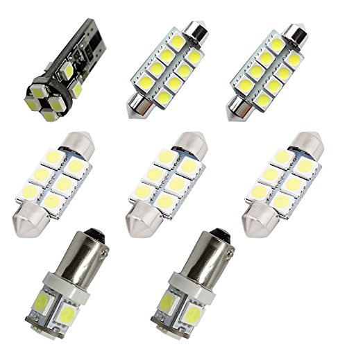 For Audi A4 S4 B7 B8 Led Interior Lights Led Interior Car Lights Bulbs Kit White 8pcs