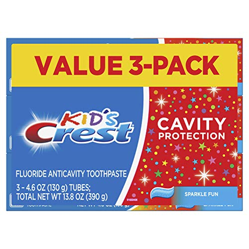 Crest Kid's Cavity Protection Toothpaste (children and toddlers 2+), Sparkle Fun, 4.6 Oz (Pack of 3)