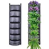 Fengaim Más Profundo y más Grande Jardinera de Pared de jardín Vertical de 7 Bolsillos Bolsas Colgantes para Plantar para Las Plantas de la Cerca del jardín del césped del Patio del Patio