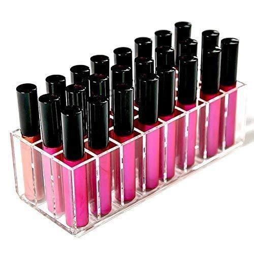XWYSSH Veranstalter Kosmetisches Aufbewahrungsbehälter Acryl Lipgloss Halter 24 Slots...