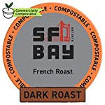 SAN FRANCISCO BAY SF Coffee OneCUP Ct Swiss Water Processed Dark Compostable Coffee Pods K Cup Compatible including… 9 We take a blend of the finest coffees from Central and South America, all choice selected, high altitude, shade grown and handpicked, then roasted very dark, to get a rich complex flavor creating the perfect French roast. This caffeinated dark roast has an intense, bold, and smoky flavor in every cup. We use only the best low acid, 100% Arabica coffee beans to ensure our coffee is the best tasting coffee to be found for your Keurig K-Cup style brewers and other single serve brewing systems. Our OneCup coffee pods are compatible with most Keurig K-Cup 1.0 and 2.0 brewers, as well as Cuisinart, Bunn, iCoffee and other single serve brewers. Our OneCups are the better choice of coffee for your single serve brewer, and the environment, all at a lower cost. Our OneCups are made from plant-based renewable resources, designed to offer a French Press experience to your single serve coffee, maximizing flavor and providing a richer and more full-bodied taste you will love to the last drop. Now you can have the highest quality coffee through the convenience of your singe serve brewer. OneCups mesh bottoms allow us to package the freshest product possible, just open up one of these bags and smell it for yourself! The OneCup pods are comprised of wood pulp lidding, a corn ring and mesh coffee filter. The end result? A more environmentally friendly, certified kosher, single serve coffee option with a great taste, allowing you to taste the difference, while you make a difference.