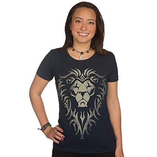 Warcraft Movie Alliance Logo Women's tee, X-Large (Midnight Navy)