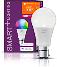 LEDVANCE LED lamp , Base: B22d , RGBW , 2000…6500 K , 10 W , Replacement for 60 W Incandescent Bulb , Smart+ Classic Multi...