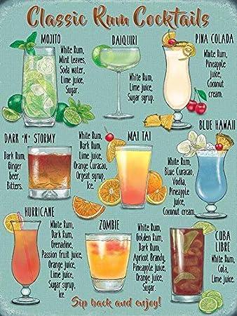 Desconocido Clásico Ron Cocktails Mojito Piña Colada ...