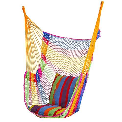 JIEIIFAFH Outdoor Mesh Hammock Dormitory Hanging Chair Indoor Home Camping Net Bed Adult Children Swing