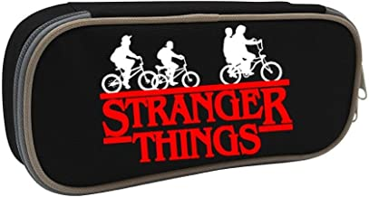 Stranger Things Logo Students Canvas Pencil Case Durable Pen Bag with Zipper