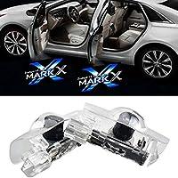 NMXPW 2個セットドア高輝度のLEDチップ トヨタ マーク X ロゴ カーテシランプ カーテシライト ゴーストシャドーライト for Mark X Blue