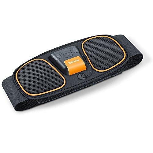 Beurer EM 32 Electroestimulador EMS Cinturón Abdominal,5 programas de entrenamiento, 2 electrodos agua sin necesidad de geles ni recambios, pantalla LCD, 75-140cm cintura