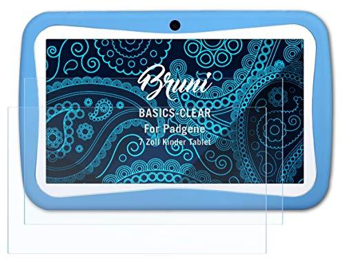 Bruni Schutzfolie kompatibel mit Padgene 7 Zoll Kinder Tablet Folie, glasklare Bildschirmschutzfolie (2X)