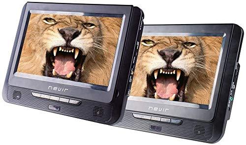 Nevir - Reproductor DVD Portátil - Nevir Nvr-2776 DVD-Pdcu, Mando A Distáncia, LCD 9 , Negro