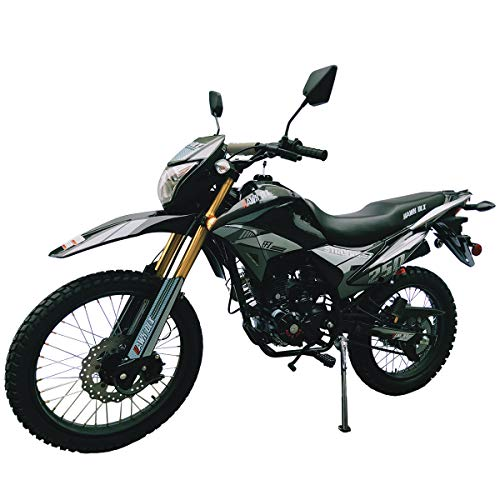 X-Pro Hawk DLX 250 EFI Fuel Injection 250cc Endure Dirt Bike Motorcycle Bike Hawk Deluxe Dirt Bike Street Bike Motorcycle(Black)