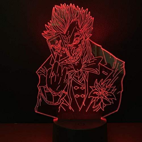 Lámpara De Noche Led Para Niños 3D The Joker Nightlight Para Niños Decoración De Dormitorio Luz De Noche Led Para Niños Regalo De Cumpleaños