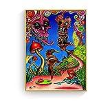 WuChao丶Store Ácido psicodélico LSD Lienzo Arte impresión Pintura póster Cuadros de Pared para la decoración de la Sala de Estar decoración del hogar 50x70 cm W-62
