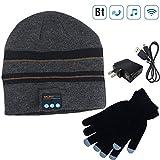 Bluetooth Beanie Music Hat Gifts for Men Women (Stripe)