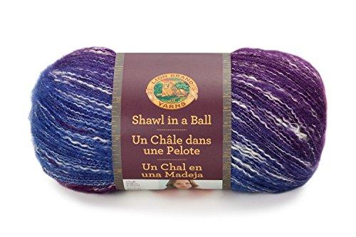 Lion Brand Yarn 828-201 Shawl in a Ball Yarn, One Size, Restful Rainbow