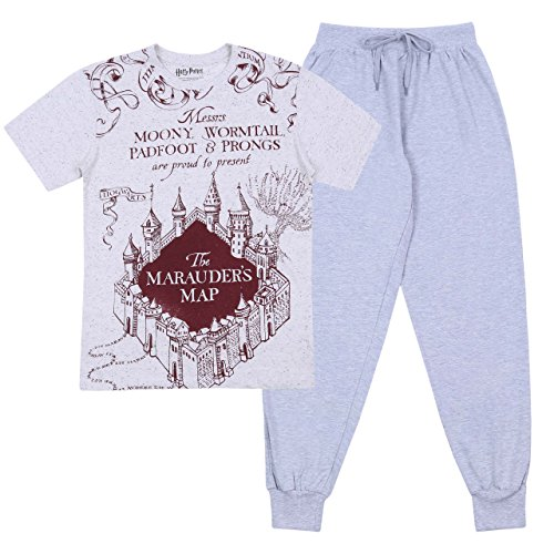 Harry Potter - Hogwarts - Pijama - para Hombre Gris Medium