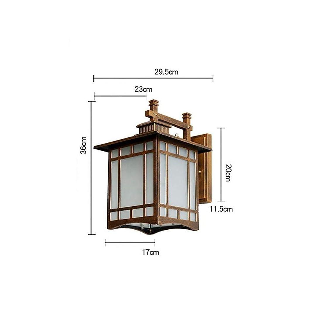 付与懲らしめオーロックウォールランプ 屋外バルコニー防水ウォールランプレトロ寝室ベッドサイドランプ廊下通路屋外ガーデンランプウォールランプナイトライトミッドセンチュリー現代の小さなテーブルランプ (色 : Bronze, サイズ : L)